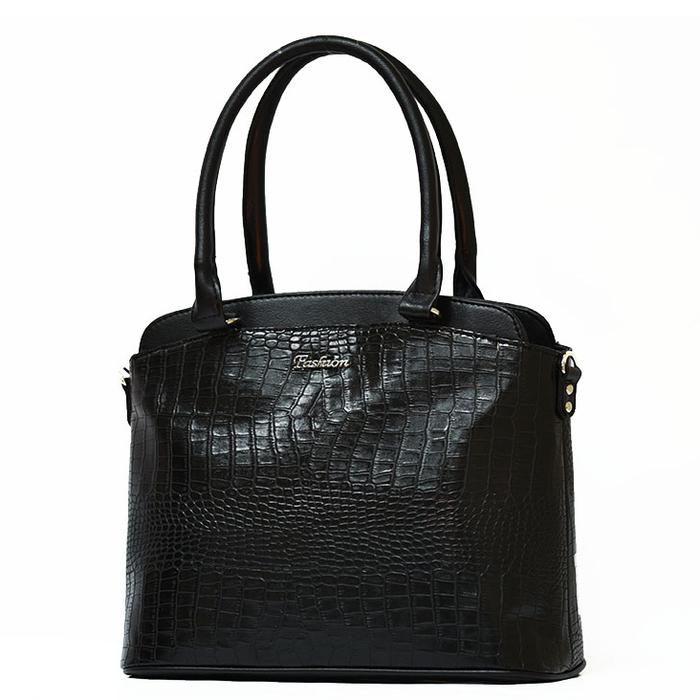 Черна Дамска Чанта-Кроко Код 861-03