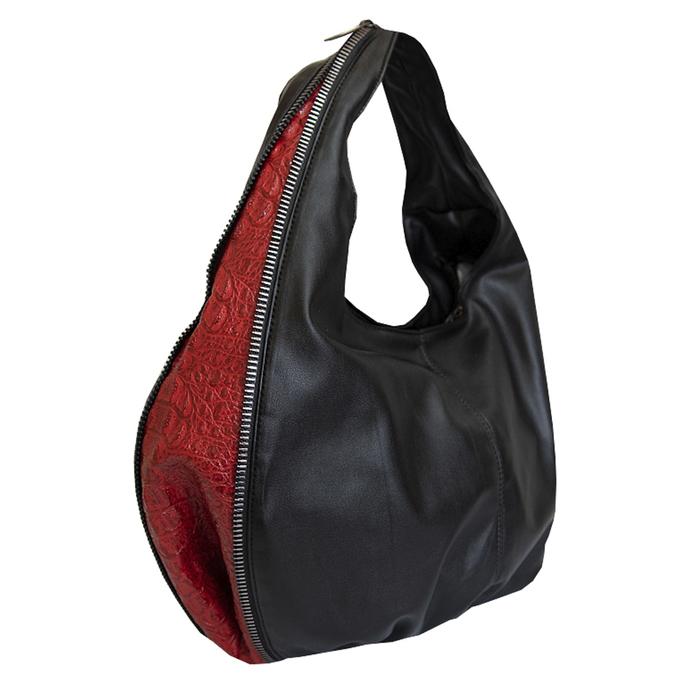 Дамска Чанта Черно-Червено Код 944-02