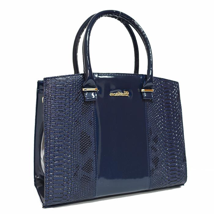 Синя Дамска Чанта-Кроко Код 852-04