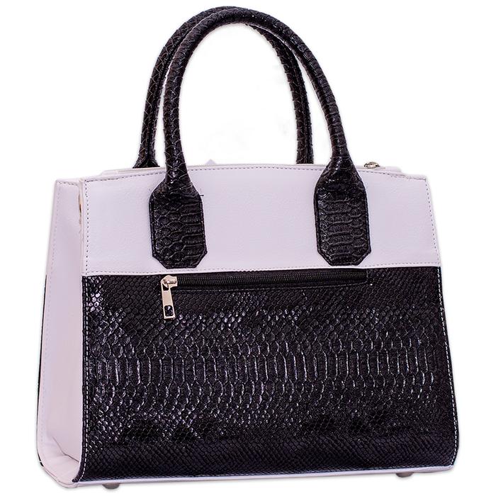 Дамска Чанта Черно-Бяла Код880Б-05