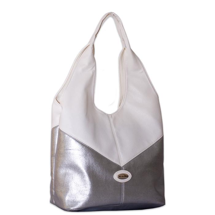 Бяла Дамска Чанта-Сребро Код 956-03