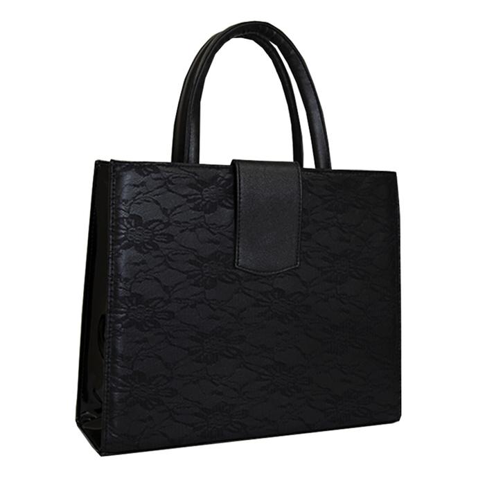 Черна Чанта-Дантела Код843б-01