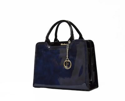 Синя Дамска Чанта-Лак Код 821 Б-04