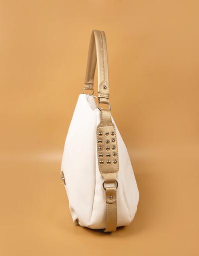 Бяла Дамска Чанта-Злато Код964-02