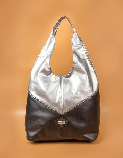 Дамска Чанта Черно-Сребро Код956-07