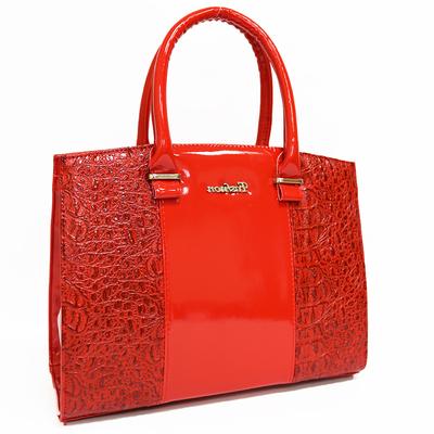 Червена Дамска Чанта-Кроко Код 852-07