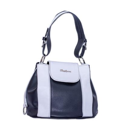 Черно Бяла Чанта Код 827б-11
