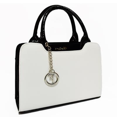 Бяла Дамска Чанта-Лак Код 821Б-06